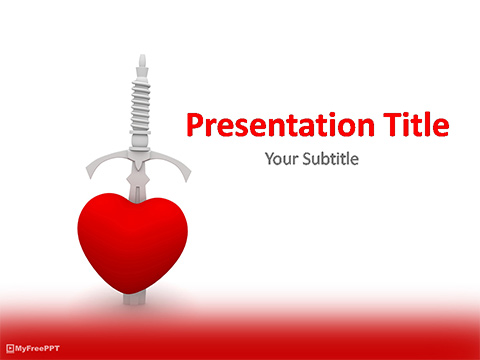 Kill Heart PowerPoint Template