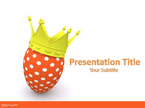 King Easter Egg PowerPoint Template