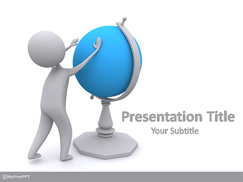 Knowledge of Geography PowerPoint Template