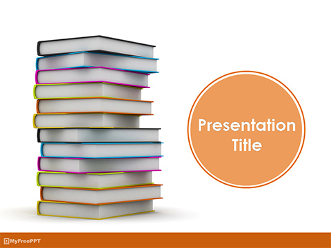 Knowledgeful Books PowerPoint Template