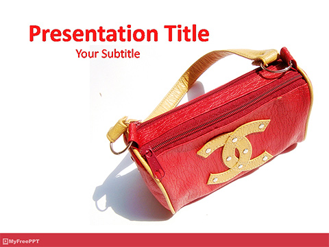 Ladies Purse PowerPoint Template