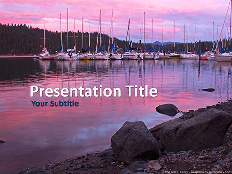 Lake Marina PowerPoint Template
