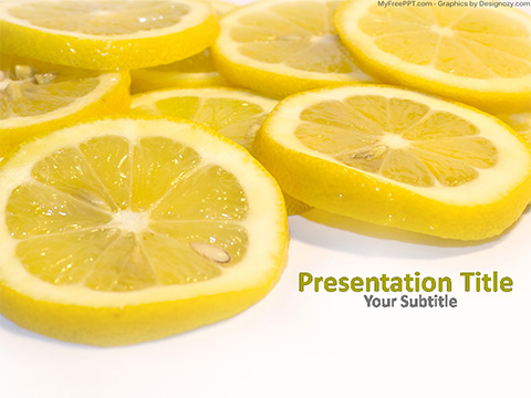 Lemon Juice PowerPoint Template
