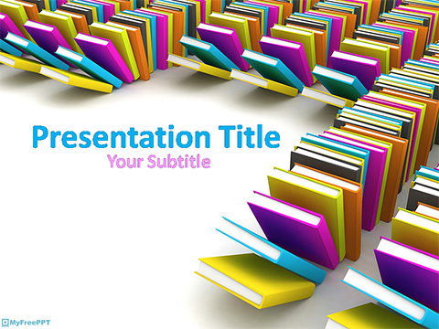 Free Library Books PowerPoint Template