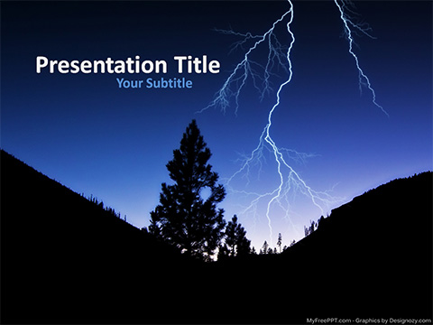 Free Lightning PowerPoint Template