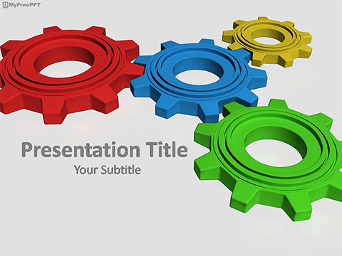Machine Gear PowerPoint Template