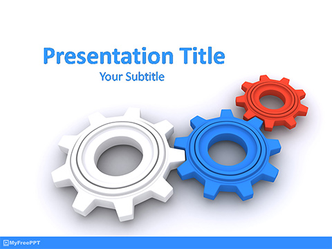 Free Mechanical Gears PowerPoint Template