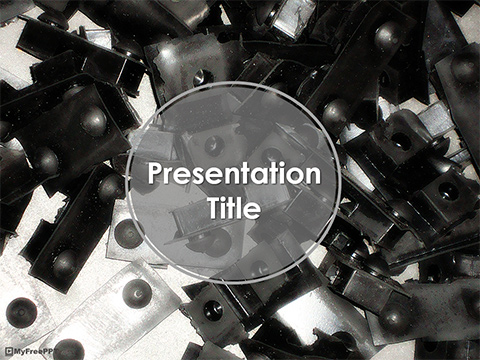 Free Metal Elements PowerPoint Template