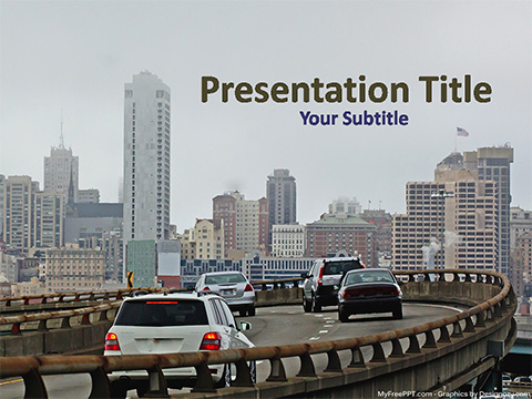 Free Modern City PowerPoint Template