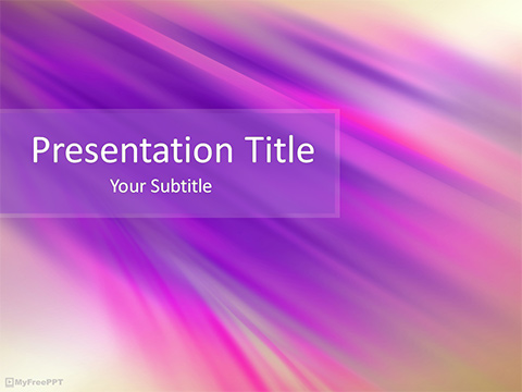 Free Motion Effect PowerPoint Template