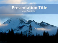 Free Snow Mountain PowerPoint Template