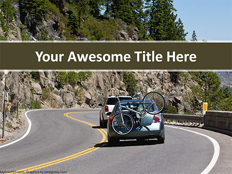 Free Mountain Route PowerPoint Template