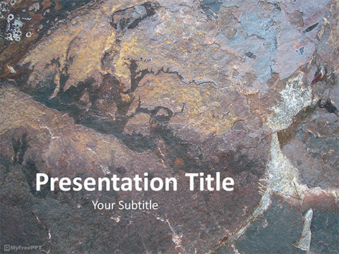 Free Mountain Rock Texture PowerPoint Template
