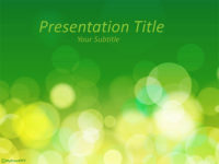 Free Nature Bokeh PowerPoint Template