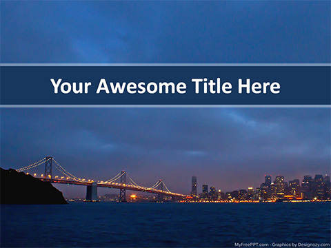 Oakland Bay Bridge PowerPoint Template