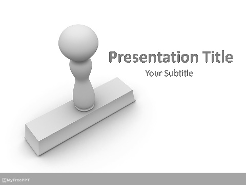 Office Stamp PowerPoint Template