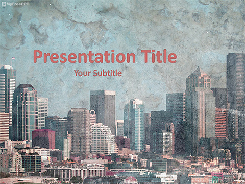Free Old Buildings PowerPoint Template