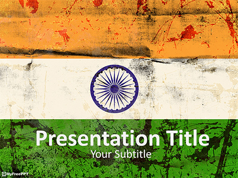 Free Old India Flag PowerPoint Template