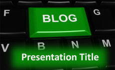 Free Online Blogging PowerPoint Template