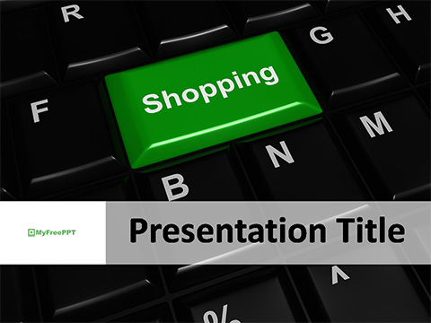 Free Online Shopping Key PowerPoint Template