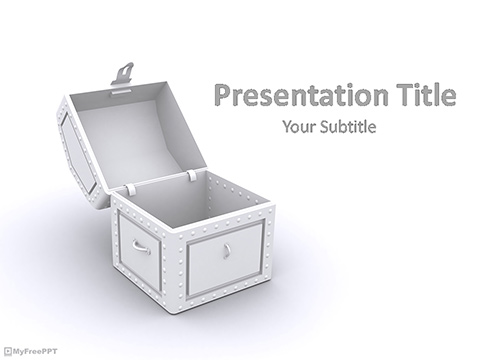 Free Open Treasure Box PowerPoint Template