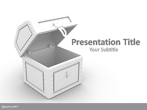 Free Open Treasure PowerPoint Template