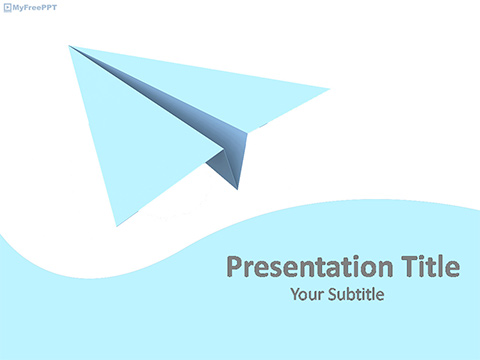 Free Origami Paper Plane PowerPoint Template