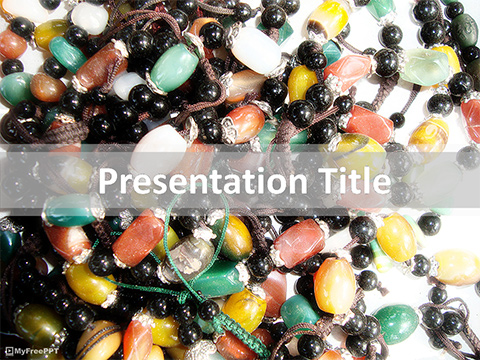 Ornament Beads PowerPoint Template