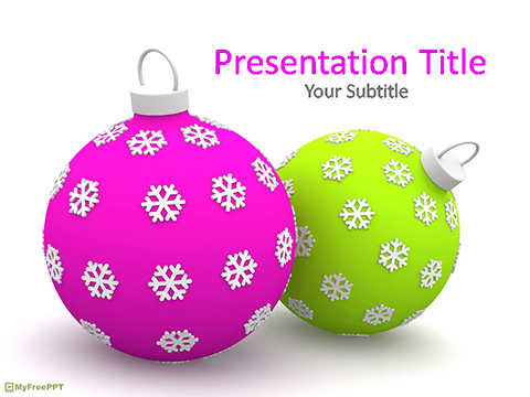 Free Ornamental Baubles PowerPoint Template