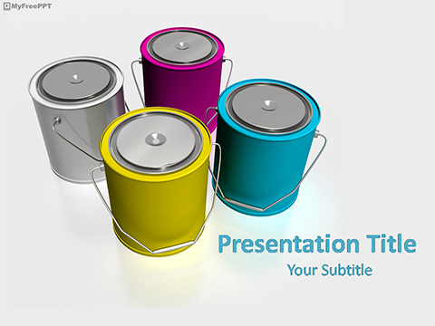 Paint Buckets PowerPoint Template