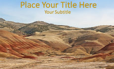 Free Painted Hills PowerPoint Template