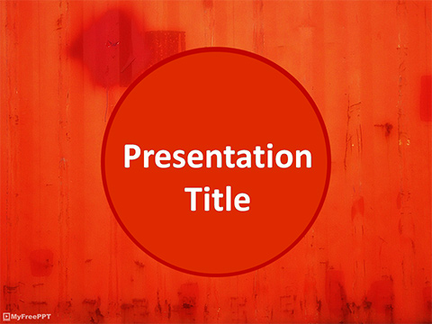 Free Painted Metal Sheet PowerPoint Template