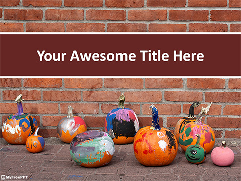 Painted Pumpkins PowerPoint Template