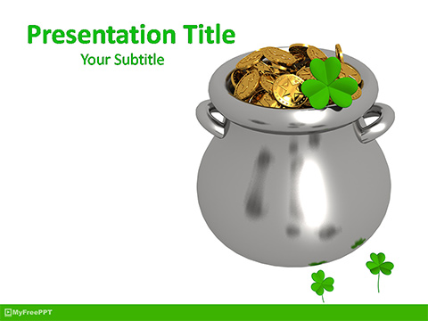 Patrick's Day Cauldron PowerPoint Template