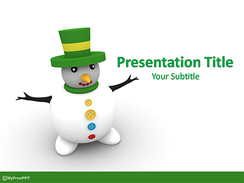 Patrick's Day Leprechaun PowerPoint Template