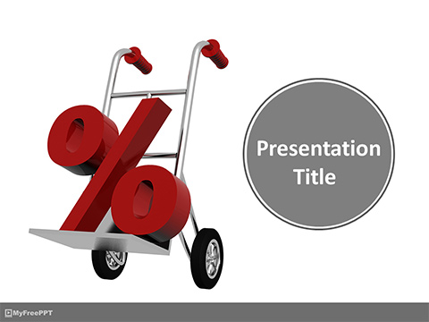 Percent Discount on Shopping PowerPoint Template