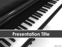 Free Piano PowerPoint Template