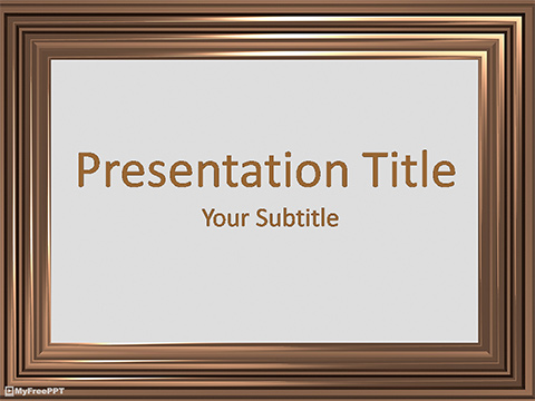 Free Brown Picture Frame PowerPoint Template