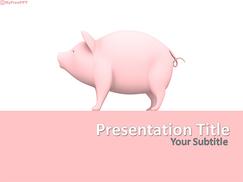 Free Piglet PowerPoint Template