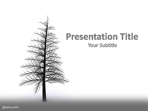 Pine Tree PowerPoint Template