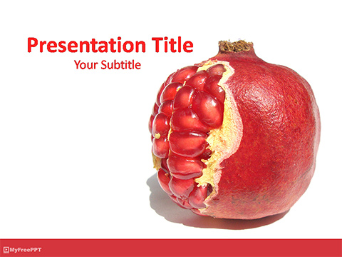 Free Pomegranate PowerPoint Template