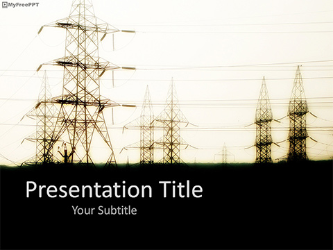 Free Power Grid Place PowerPoint Template