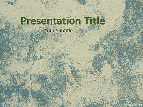 Free Ragged Wall PowerPoint Template