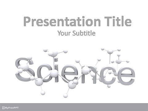 Reaserch on Molecules PowerPoint Template