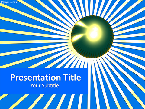 Free Retro Sunburst PowerPoint Template