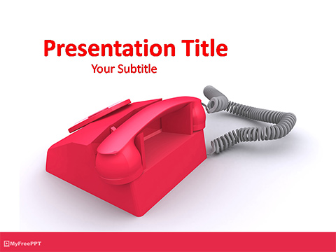 Free Retro Telephone PowerPoint Template