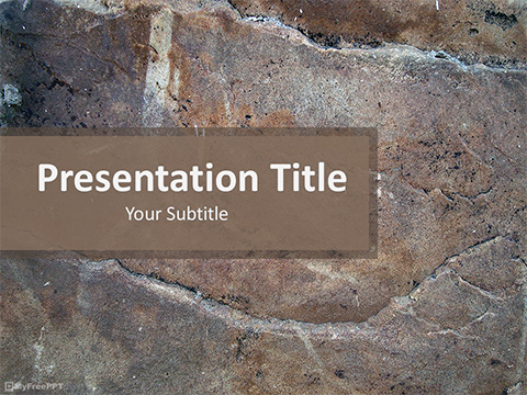 Free Rock Surface PowerPoint Template
