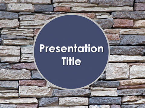 Free Rock Tiles Wall PowerPoint Template