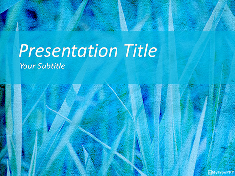 Free Rough Grasses PowerPoint Template