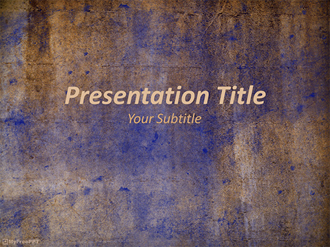 Free Rough Paper PowerPoint Template